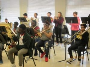 Horn Section of Jazz band